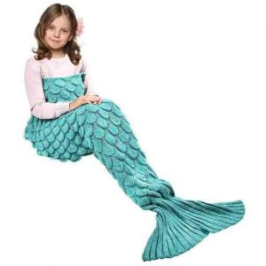 manta cola de sirena para niñas