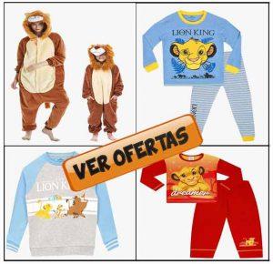 Pijamas de rey leon mujer, niño y bebe